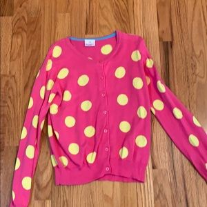 Girls Hanna andersson 150 pink and yellow sweater